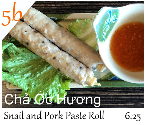Snail and Pork Paste Roll 6.25
